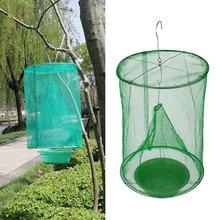 1PCS Hanging Fly Catcher Killer Reusable  Flies Pest Control Flytrap Zapper Cage Net Trap Garden Home Yard Supplies