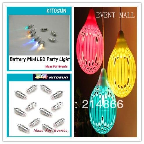 10 pcs lot Core of Wedding Lanterns Balloon Flowers Mini LED Lights Warm White Tiny Led