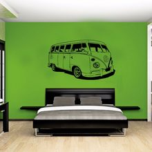 Grote Auto VW Sticker Volkswagon Camper van Retro Hippy Classic Wall Art Verwijderbare Cut Vinyl Decal Stencil Mural Home Kamer Decor(China)
