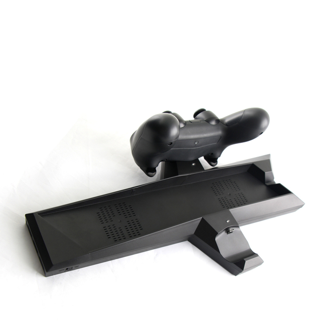 Multi-functional USB Dual Controller Charger Dock for PlayStation 4 PS4 Fan Base Charging Stand Game for PS4 Cooling Fan Bracket