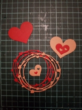 Heart Wreath Metal Cutting Dies for Scrapbooking