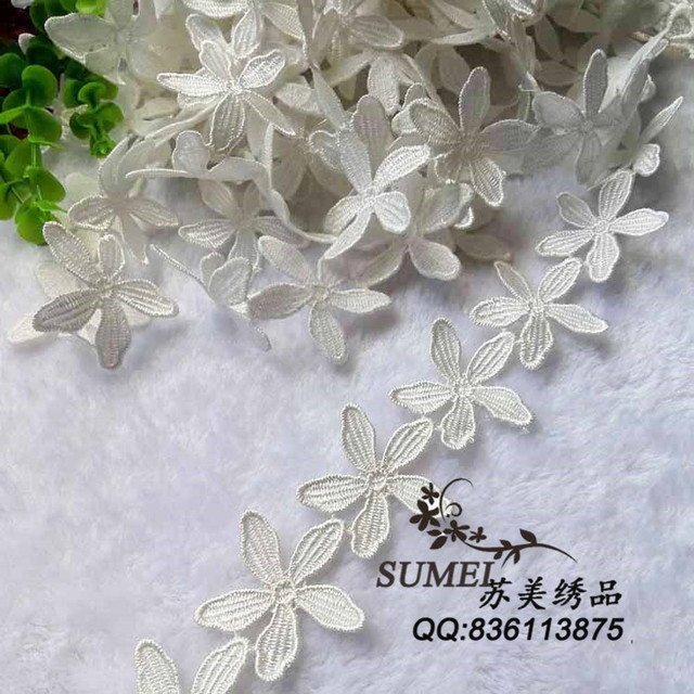 Free shipping 3 Yard/lot  Exquisite lace trim decoration diy handmade white hair clothes accessories hydrotropic laciness fabric