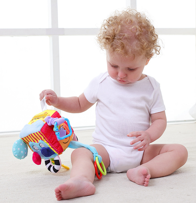 0 12 Months Baby Mobile Newborn Toys Plush Block Clutch Cube Baby Rattles Early Newborn Baby Educational Toys in Baby Rattles Mobiles from Toys Hobbies