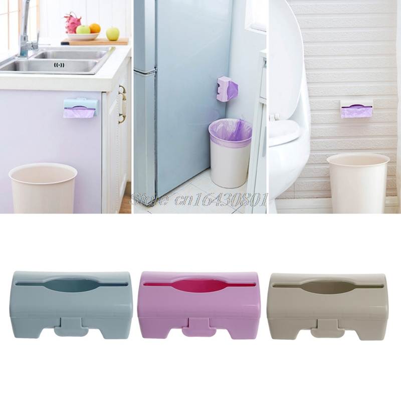 Wall-mounted Garbage Bag Storage Box Container Kitchen Bathroom Organization Shelf #S018Y# High Quality