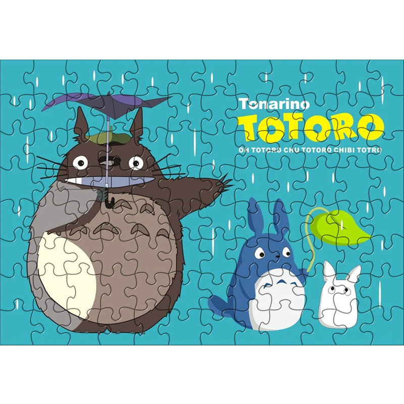 120pcs/box My Neighbor Totoro Anime Puzzles Toys Children Paper juguetes Jigsaw Puzzles toys for Kids brinquedos