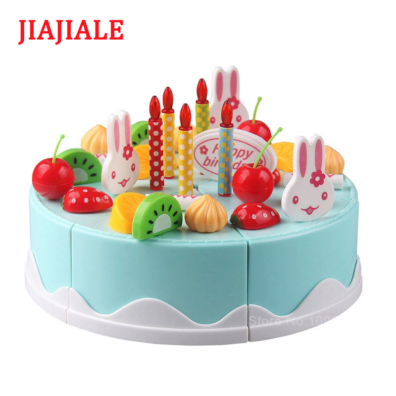 Miraculous 38Pcs Diy Toy Fruit Cake Free Transform Kitchen Food Toy House Funny Birthday Cards Online Elaedamsfinfo