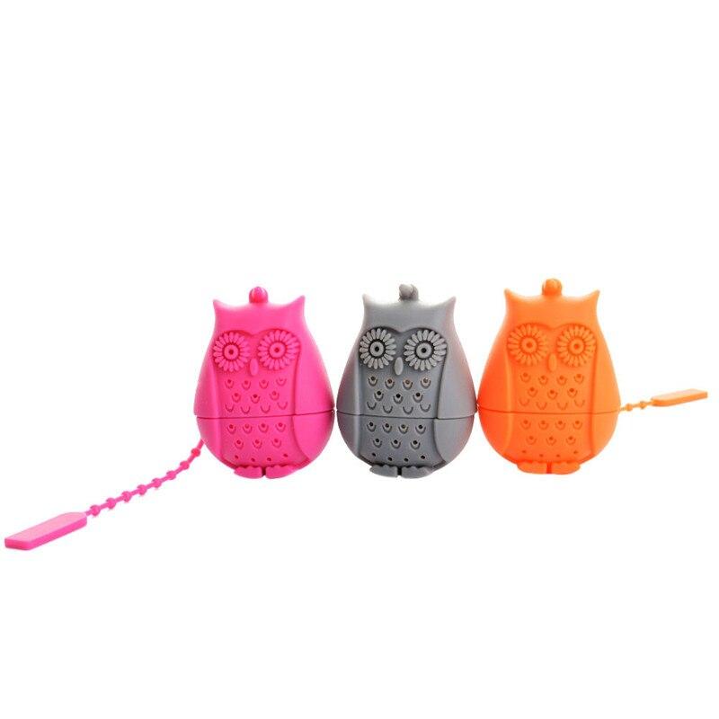 Funny Owl Tea Infuser Black Tea Strainer  Infuser Filter Diffuser Grade Silicone Loose Leaf Herbal Spice Holder Tea Brewing Tool