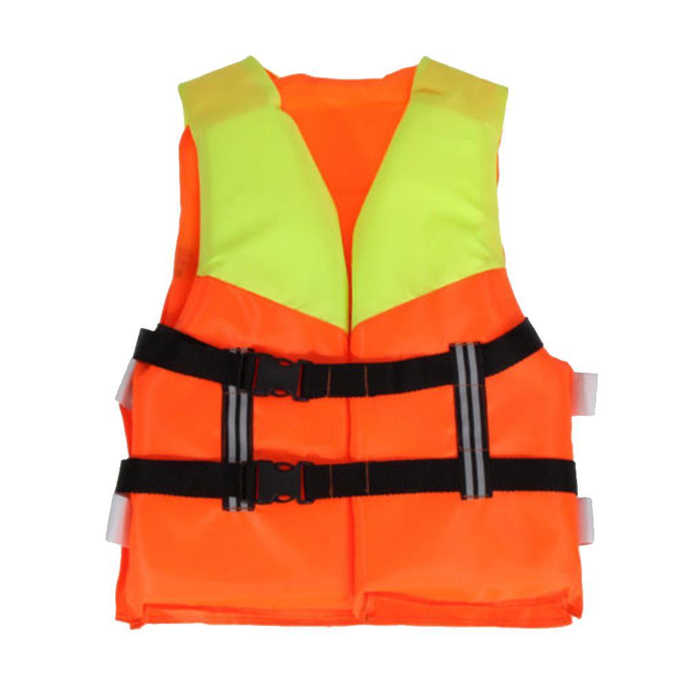 Kids Orange Foam Life Jacket Vest For Flood Water Swimming Rowing Skiing Boating Drifting Life Vest Children's Life Vests