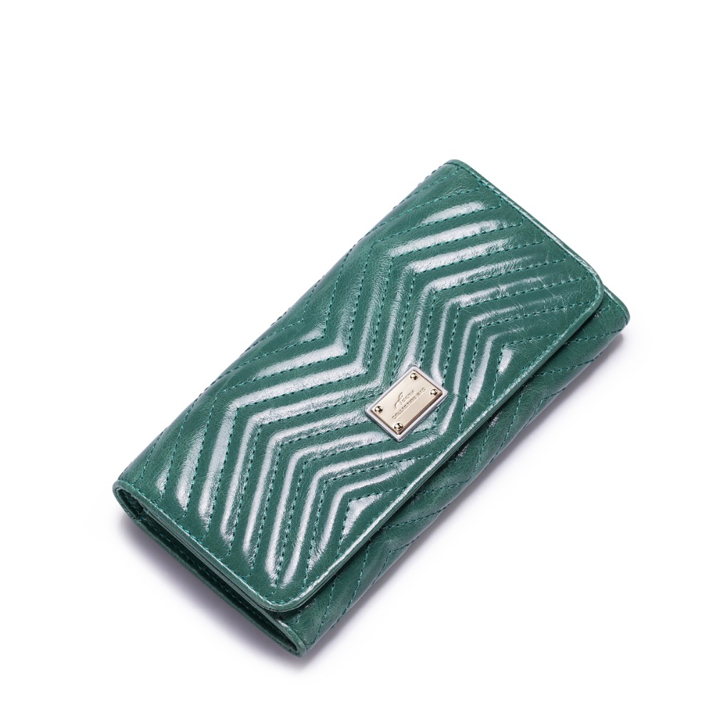 ФОТО 2016 New Fashion Women's Genuine Cowhide Leather Card Holder Long Wallet Girls Small Purse Clutch