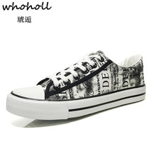 Whoholl Brand 2019 Spring New Breathable Canvas Shoes Men Casual Shoes Tenis Masculino Adulto Male Lace-up Fashion Flats Shoes