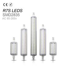 R7S LED 118mm Floodlight Led Tube Light 220V Lampada Led R7S 78mm Corn Light J78 J118 No Flicker 2835 SMD Replace Halogen Lamp стоимость