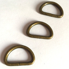 100 sztuk 3 0mm grubość 20mm 25mm 30mm wewnętrzna Metal D pierścień stare złoto wykończenie tanie tanio Rongxiao A322 D Rings fashionable Guangdong China (Mainland)