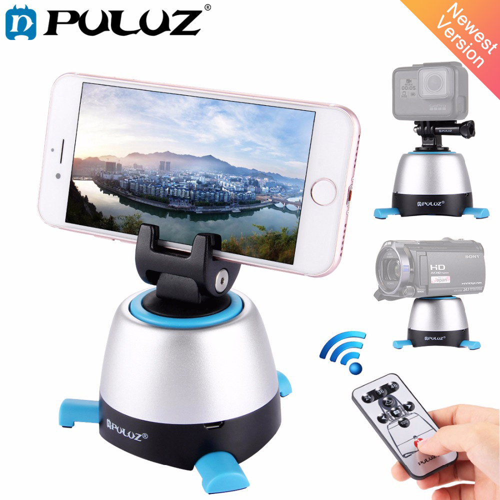 Electronic 360 Degree Rotation Panoramic Tripod Head With Remote Controller Rotating Pan For Smartphones Gopro Dslr