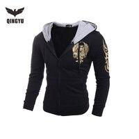 2016 Hoodies Men Sudaderas Hombre Hip Hop Mens Brand Double Pocket Long Sleeve Hoodie Sweatshirt Suit