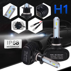 Nicecnc H1 светодиодные лампы фар автомобиля фары 50 Вт 8000LM 6000 К для Фокус ка Mondeo Юкон CR-V Getz ix55 FX XJ XK Авто головного света