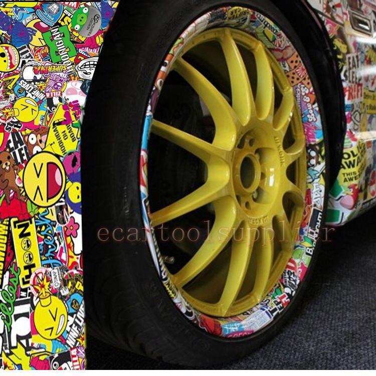 60 x 20 jdm pig cartoon graffiti car sticker bomb wrap sheet decal vinyl diy free shipping in. Black Bedroom Furniture Sets. Home Design Ideas