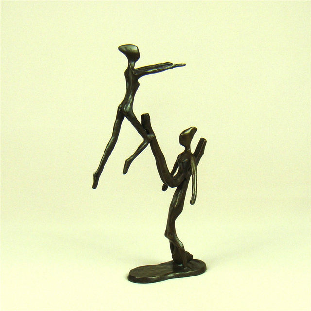 Online Shop Handmade Copper Water ballet Swimming Statue Abstract ...