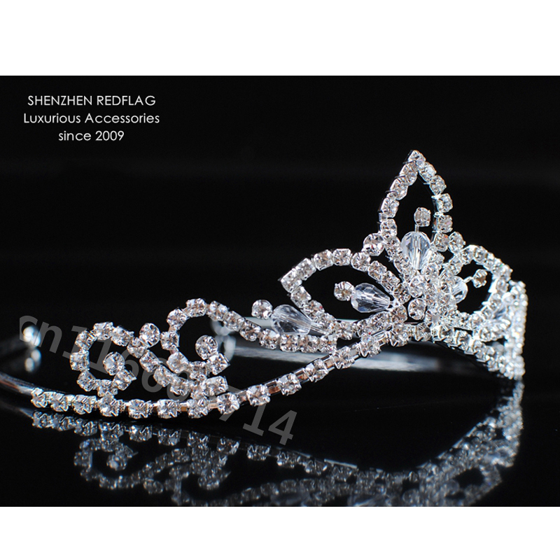 Girls Princess Handmade Tiara Headband Wedding Bridal Crowns Crystal  Rhinestones Headpiece Pageant Hair Accessories Jewelry-in Hair Jewelry from  Jewelry ... 15a8fc062909
