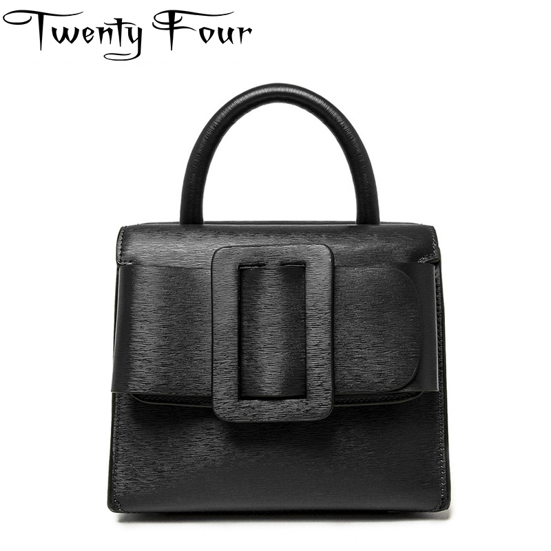 Twenty-four Women Doctor Totes Bag Genuine Leather lady Handbags Fashion Panelled Cross body bags belt Two sides open internal twenty four women brand flap bags natural genuine leather handbags with chain solid color cover small bags young cross body bags