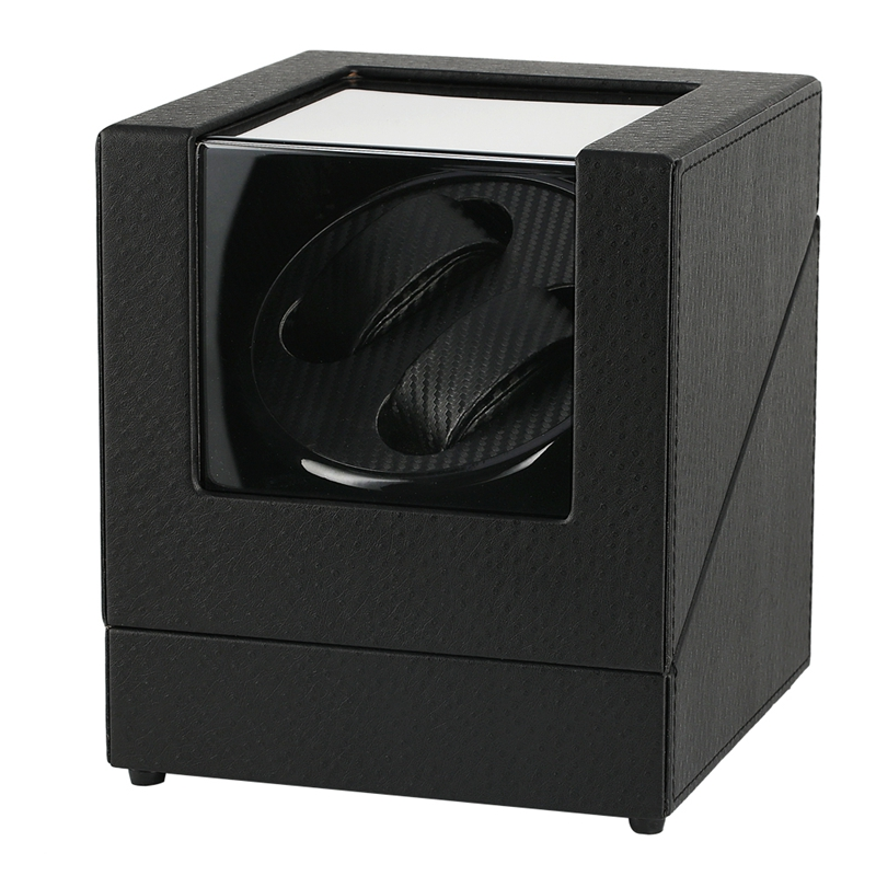 Automatic Watch Winder Case Holder Mechanical Watch Double Winding Display Organizer Luxury Motor Shaker PU Leather Rotating Box