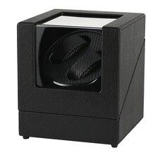 Caja giratoria de cuero PU con soporte para ver caso devanadera automático, reloj mecánico, organizador de pantalla de doble bobinado, agitador de Motor de lujo