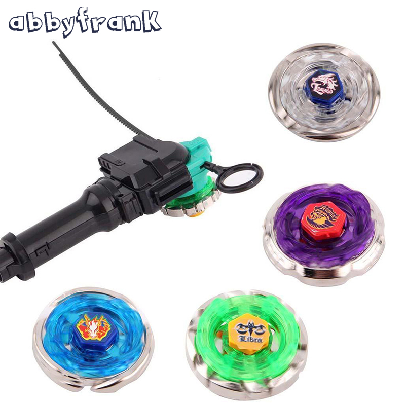 Abbyfrank Beyblade Metal Spinning Beyblade Sets 4 Gyro Box 4D Fight Master Beyblade String Launcher Grip Barnleksaker Presenter