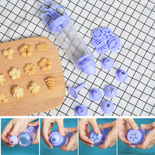 10Flower +8 Pastry Tips biscuit cookie cutter DIY cake Cookie making machine