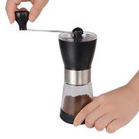 Moedor de café manual  moinho de café cerâmico  moagem ajustável  frasco de vidro  construído para durar  mais avaliado