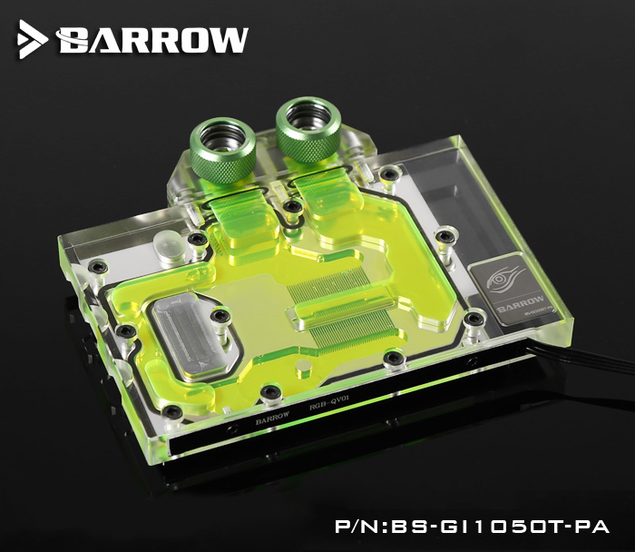 Barrow BS-GI1050T-PA, LRC 1.0 Full Cover Graphics Card Water Cooling Block for GIGABYTE GTX1050Ti/1050Barrow BS-GI1050T-PA, LRC 1.0 Full Cover Graphics Card Water Cooling Block for GIGABYTE GTX1050Ti/1050