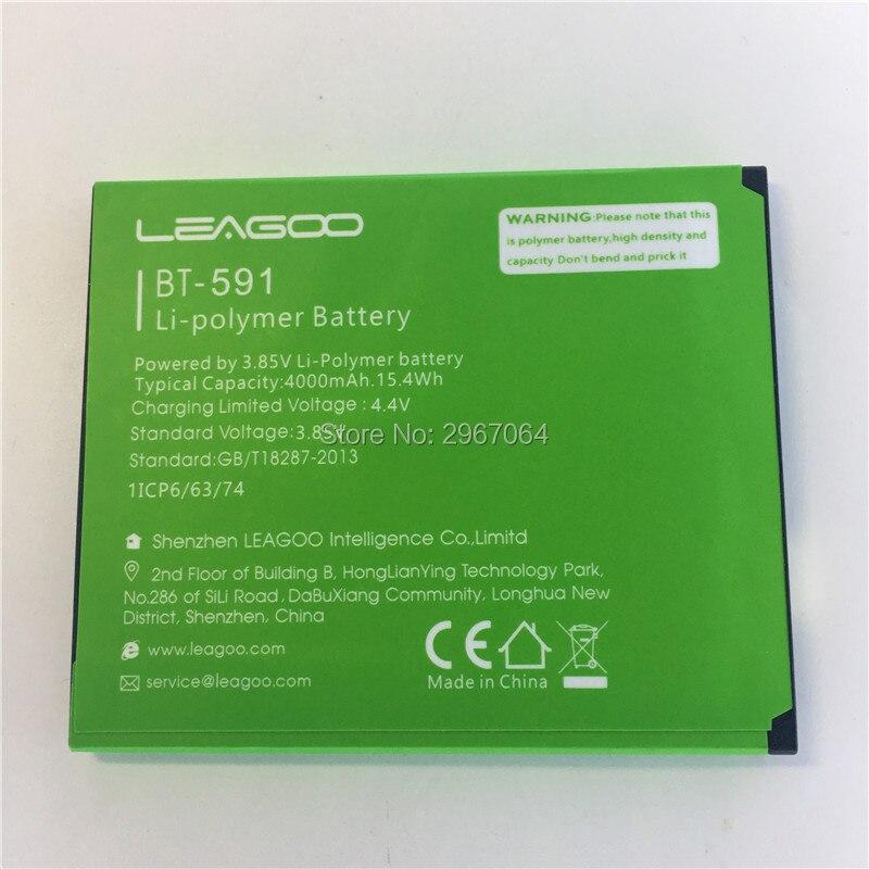 Mobile phone battery LEAGOO BT-591 battery kiicaa power 4000mAh Original battery LEAGOO Mobile Accessories