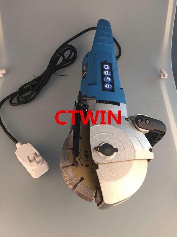 156 mm-es többfunkciós falhorony-vágógép 4800W-os - Csiszolószerszámok - Fénykép 5