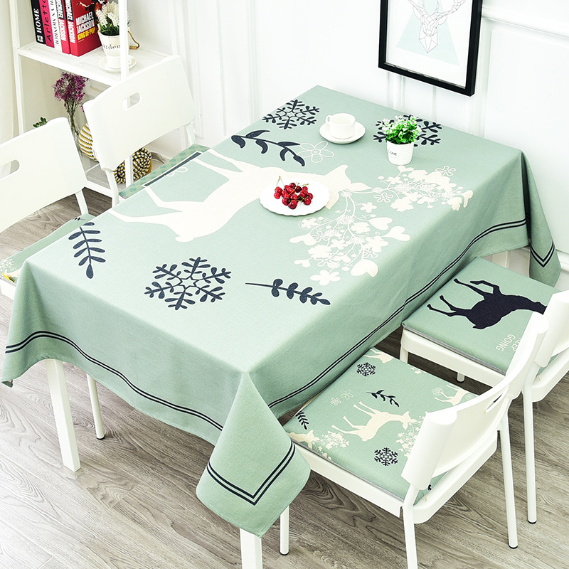 Considerate Hot Sales European-style Snowflake Deer Printtablecloth Cotton Linen Tablecloth Restaurant Party Home Decoration Table Cloth Home & Garden Tablecloths