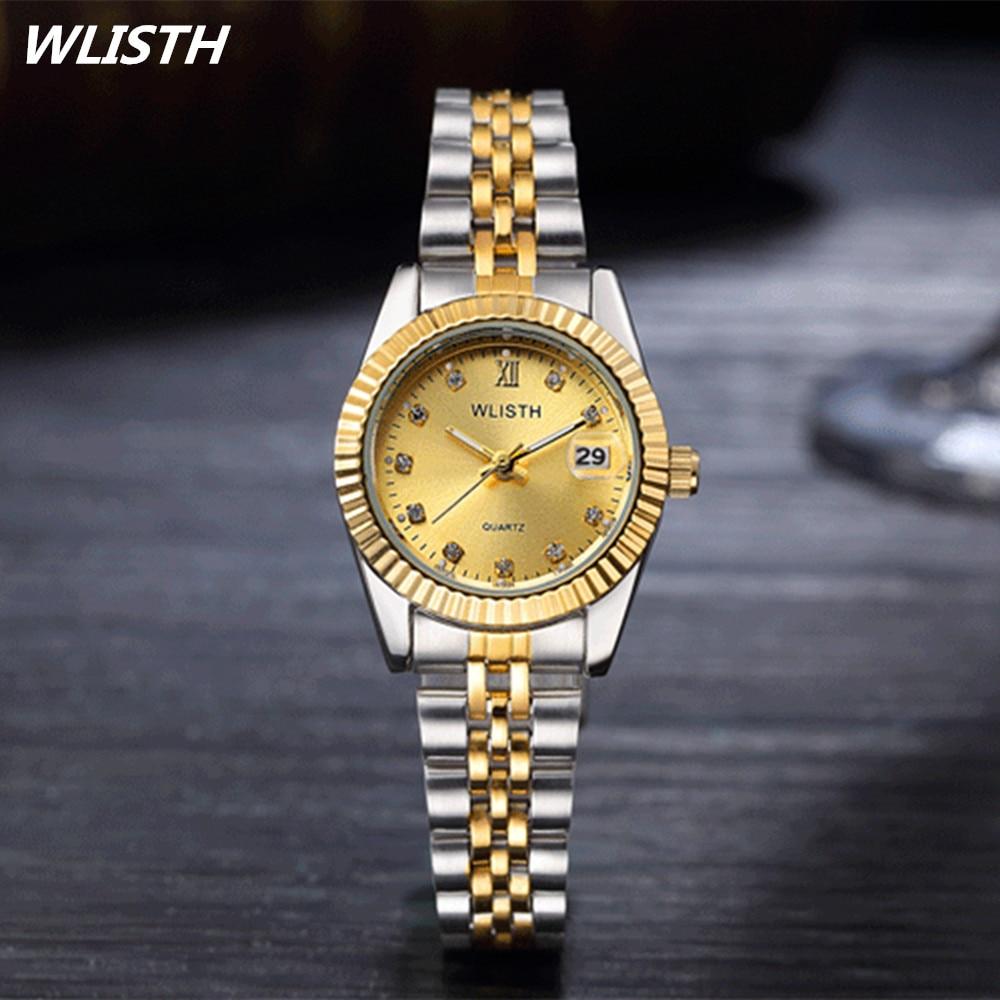 WLISTH Top Brand Sihai Luxury High Fashion Rose Gold Watch w Diamond for Women and Ladies
