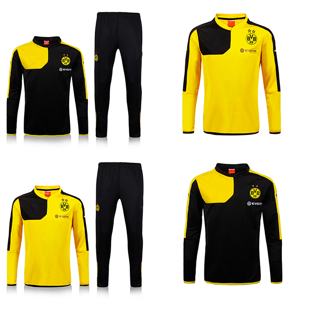 551918bbbf53b 2016 chandal Borussia Dortmund tracksuits survetements football Borussia  dortmund training dortmund top pant sweatshirt