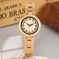 Minimalist Bamboo Watch All Wooden Quartz Watches Women Clocks and Watches Quartz Analog Wristwatches Simple Wood Watch Online