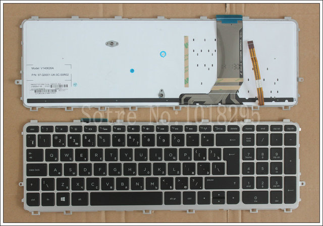 Russian Keyboard for HP ENVY TouchSmart 15-J 15T-J 15Z-J 15-J000 15t-j000 15z-j000 15-j151sr with backlit RU black keyboard