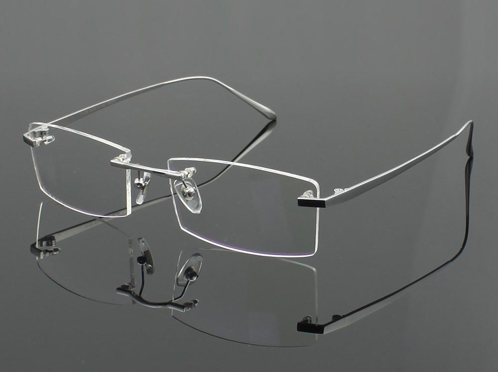 100% Homens de Óculos de Titânio Puro Frame Ótico Óculos RXable ... df7594e5d7