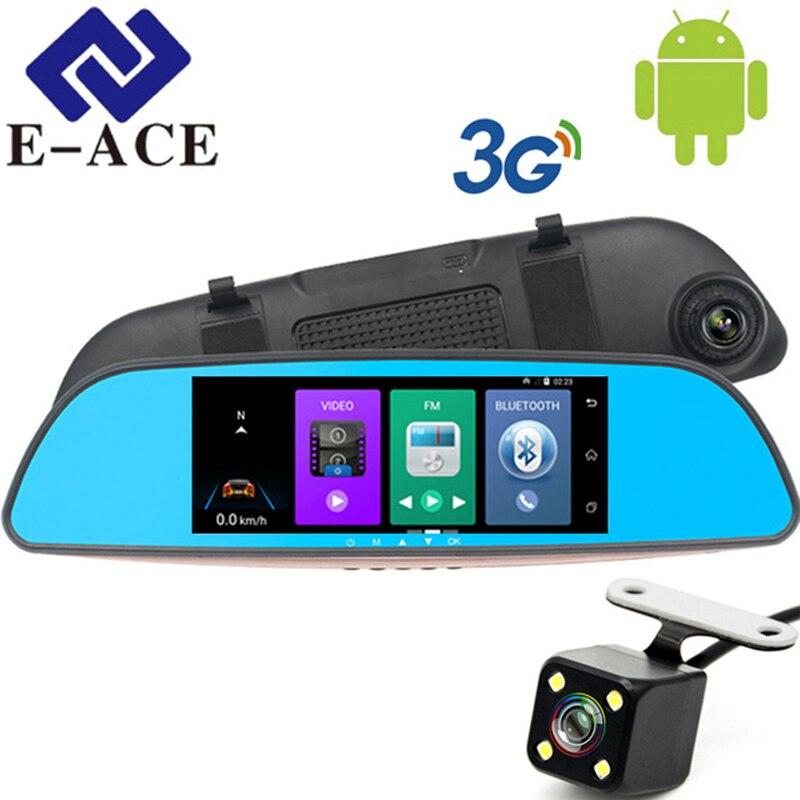 E ACE 3G Wifi font b Car b font Dvrs FHD 1080P Registrar 7 Dual Camera