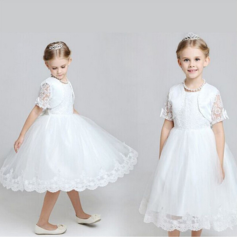 Elegant Girl Dress Baby Shower Dresses For Girls Princess Two Piece