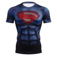 Nueva camiseta de compresión 3D de Superman de Marvel, camiseta transpirable de verano para hombre, camiseta de manga corta para culturismo, camiseta de marca a la moda