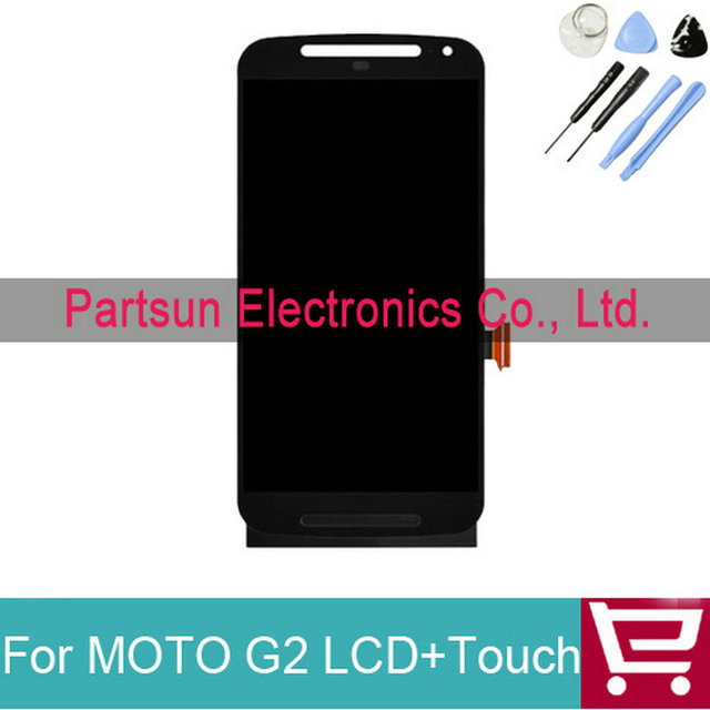 100% Tested Good For Motorola for MOTO G2 G+1 XT1063 XT1068 XT1069 LCD Display with Touch Digitizer Assembly+tools Free Shipping