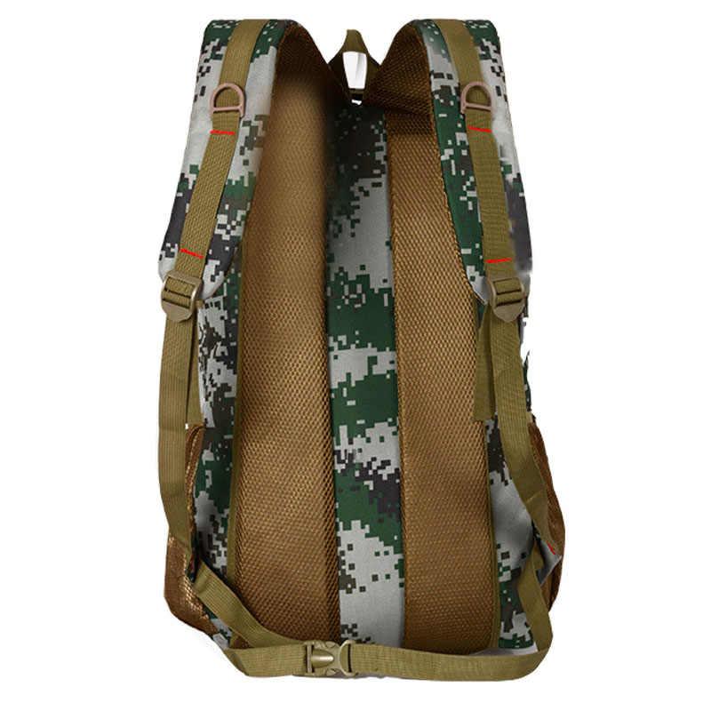 Panas + + Kualitas Ransel Taktis Militer Tentara Mochila 50L Tahan Air Hiking Ransel Berburu Wisata Ransel Tas Olahraga