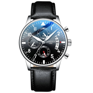 Image 5 - Reloj de cuarzo de acero para hombre, correa de malla completa, cronógrafo de piloto de moda, analógico, resistente al agua, FD2711