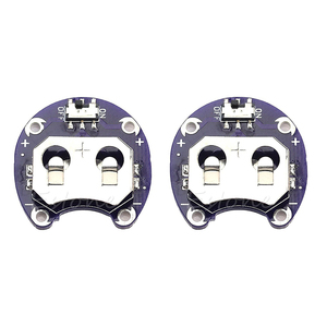 Image 1 - 2 X Supporto Della Batteria a Bottone per CR2032 Con Interruttore (2 Pcs)