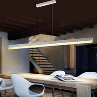 Modern Minimalism Creative Rule Design Iron Acryl Led Pendant Light for Dining Room Living Room 80/100/120cm 1724