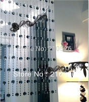 AAA + 90*200 см роскошный черный кристалл strand Бисера Занавес для домашнего свадьбы свадебные украшения для деревьев (можно настроить)