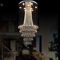 Işıklar ve Aydınlatma'ten Avizeler'de Lüks Otel Restoran Avize LED Kristal Avize Dubleks Merdiven Kristal Işık Villa Oturma Odası Lamba