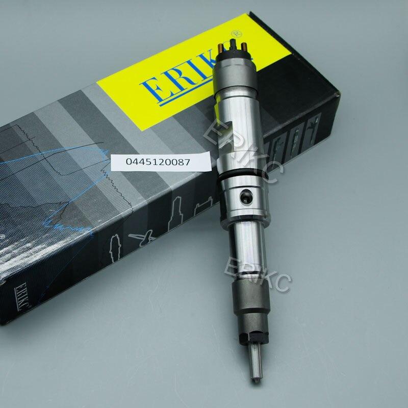 ERIKC nuevo inyector de combustible 0445120087 común carril boquilla 0 445 120 087 para WP10