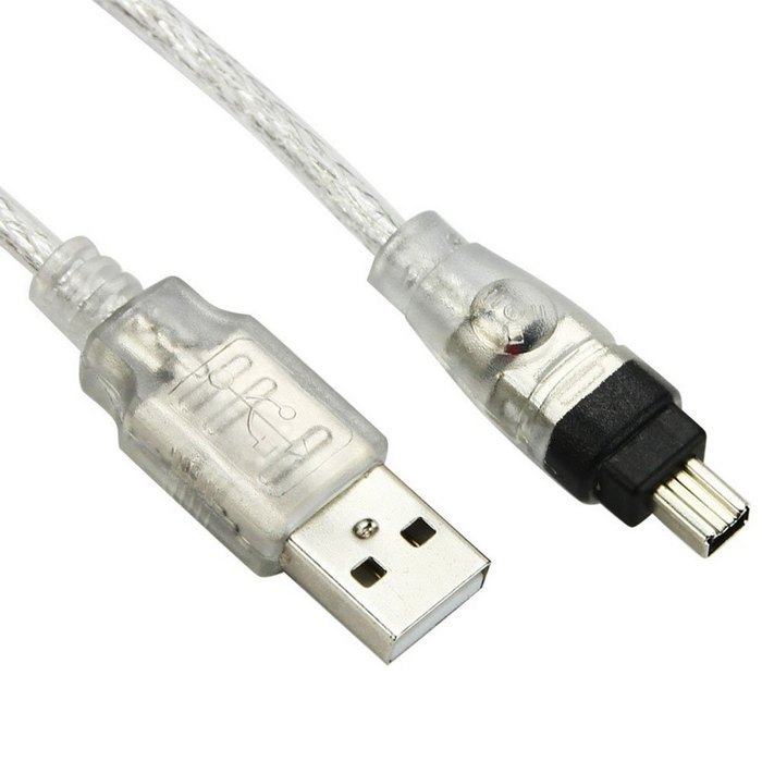 Durpower 3FT Firewire iLink 6-4 Pin DV Video Cable Cord Lead For Sony DCR-TRV520 DCR-TRV50//e