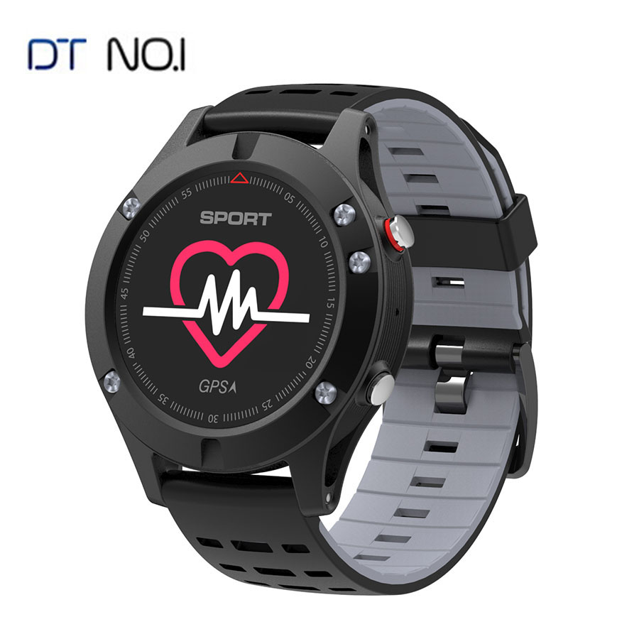 Original No.1 F5 GPS Smart Watch Heart Rate Monitor Sport Watches Altimeter Thermometer Bluetooth 4.2 Smartwatch For iOS Android new original no 1 g6 smart watch mtk2502 sport bluetooth 4 0 tracker call running heart rate monitor smartwatch for android ios